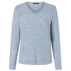 Olsen Super Soft Melange Jumper - Smokey Blue
