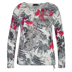 Rabe Floral Print Colour Dash Jumper