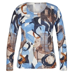 Rabe Embellished Circles Abstract Print Jumper