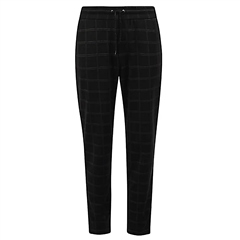 Rabe Pull On Square Check Cropped Trousers