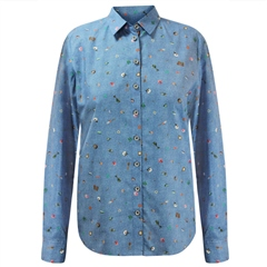 Erfo 100% Cotton Multi Print Blouse