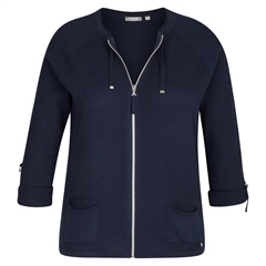 Rabe Zip Up Jersey Jacket - Marine