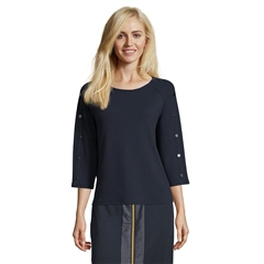 Betty Barclay Button Detail Top - Dark Sky