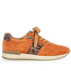 Gabor Snake Detail Trainers - Orange