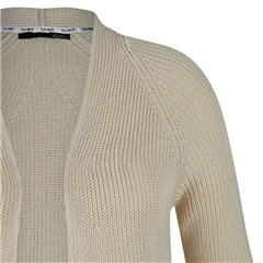 Le Comte Edge To Edge Ribbed Cardigan - Ivory