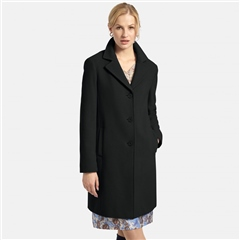 Basler Long Wool Blend Coat - Black