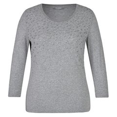 Rabe Textured Sparkle Long Sleeve T-Shirt