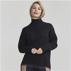 Holebrook 'Miriam' High Neck Wool Blend Jumper - Navy