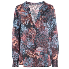 Dea Kudibal 'Santena' Stretch Silk Tunic - Oriental Black Print