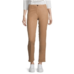 Betty Barclay Coated Leather Look Trousers - Golden Camel