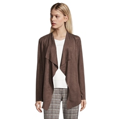 Betty Barclay Faux Suede Waterfall Edge Jacket