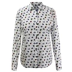 Erfo 100% Cotton Hats Print Blouse