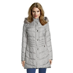 Betty Barclay Faux Fur Trim Padded Coat - Morning Dove