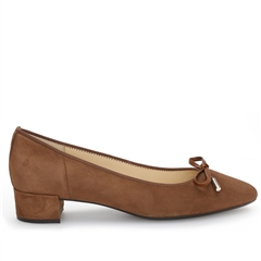 Gabor Low Heel Suede Bow Detail Shoes
