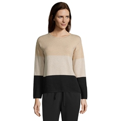 Betty Barclay Colour Block Jumper - Black Camel