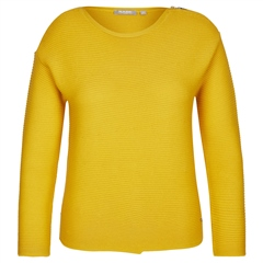 Rabe Zip Detail Ribbed Jumper - Honey