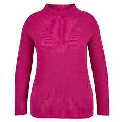 Le Comte Wool Blend High Neck Ribbed Jumper