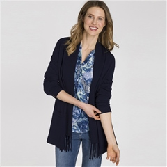 Olsen Tassel Detail Edge To Edge Cardigan