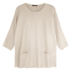 Olsen Sleeve Button Detail Ribbed Jumper