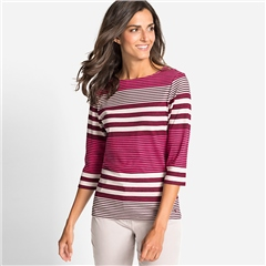 Olsen 100% Cotton Mixed Stripe T-Shirt