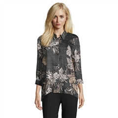 Betty Barclay Abstract Leaf Print Blouse