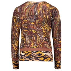 Betty Barclay Paisley Print Zip Up Top