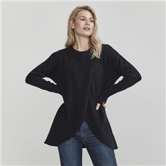 Holebrook 'Wanda' Detachable Roll Neck Wool Blend Jumper - Navy