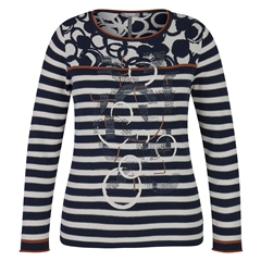 Rabe Embellished Mixed Print Jumper