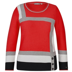 Rabe Block Colour Jumper - Chilli