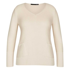 Le Comte Pocket Detail Ribbed Jumper - Ivory