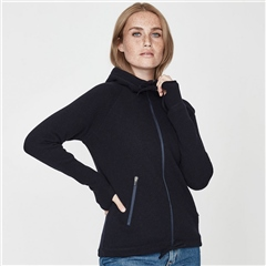 Holebrook 'Martina' Wool Windproof Jacket With Hood - Navy