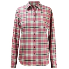 Erfo 100% Cotton Check Blouse - Rose