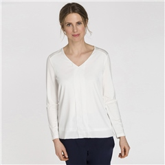 Olsen Chiffon Front Box-Pleat Top