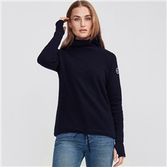 Holebrook 'Martina' Wool Windproof Jumper - Navy