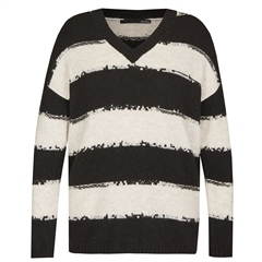 Le Comte V-Neck Striped Jumper