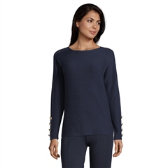 Betty Barclay Button Cuff Round Neck Jumper - Dark Sky
