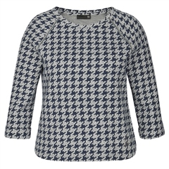 Rabe Houndstooth Print Top