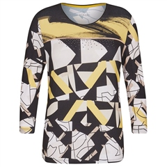 Rabe Abstract Print Jumper - Black