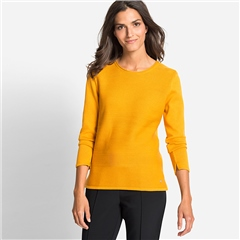 Olsen Cotton Mix Ribbed Jumper