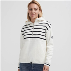 Holebrook 'Lina' Hooded Windproof Jumper - Stripe