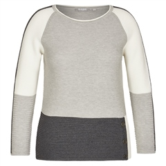 Rabe Colour Block Button Detail Jumper