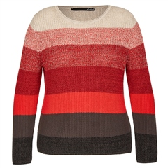 Le Comte Cotton Mix Striped Jumper