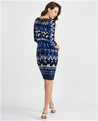 Joseph Ribkoff Abstract Print Dress