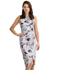 Joseph Ribkoff Floral Wrap Dress