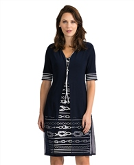 Joseph Ribkoff Knot Print Layered Dress
