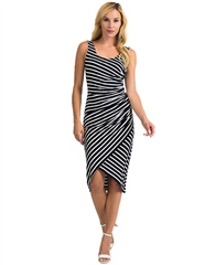 Joseph Ribkoff Striped Wrap Dress