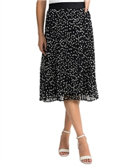 Joseph Ribkoff Polka Dot Pleated Skirt