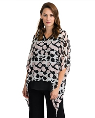 Joseph Ribkoff Dot Print Layered Top