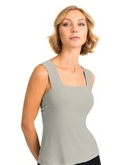 Joseph Ribkoff Essentials Wide Strap Camisole - Grey
