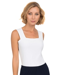 Joseph Ribkoff Essentials Wide Strap Camisole - White